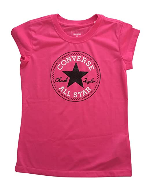 Converse Chuck Taylor All Star Girls' T Shirt Tee (Pink
