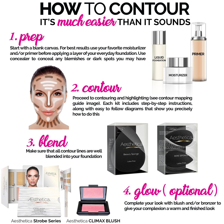 Contouring Makeup Kit; Easytofollow, Stepbystep  Instructions