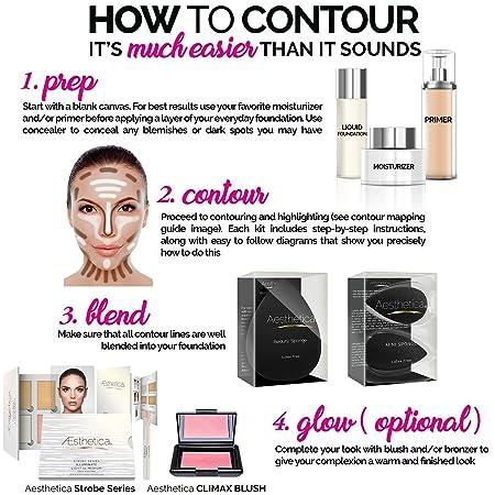 Amazon.com : Aesthetica Cosmetics Contour and Highlighting Powder ...