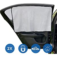 [2021 Upgraded]MERTTURM Car Side Window Shades for Baby, Car Sun Shades Magnetic Curtain, 2 PACK Car Window Blinds for…