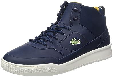Lacoste Herren Sevrin Mid 417 1 Cam Hohe Sneaker Schwarz (Blk/Blk) 41 EU