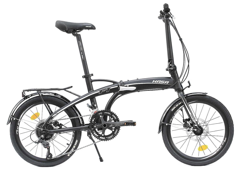 Hasa plegable plegable bicicleta Shimano 18 velocidades negro: Amazon.es: Deportes y aire libre
