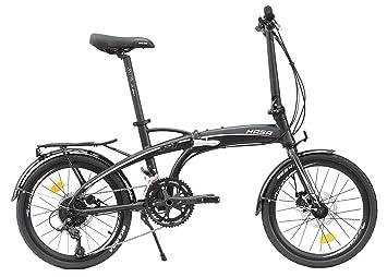 Hasa plegable plegable bicicleta Shimano 18 velocidades negro