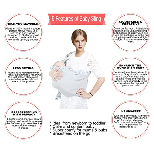 Amazon Com Baby Ring Sling Wraps Carrier 6 In 1 Adjustable And