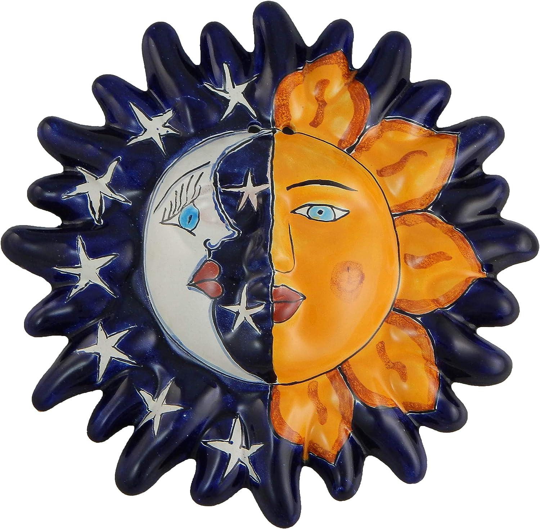 Mexican Talavera Ceramic Sun Face Wall Decor Hanging Pottery Folk Art # 13