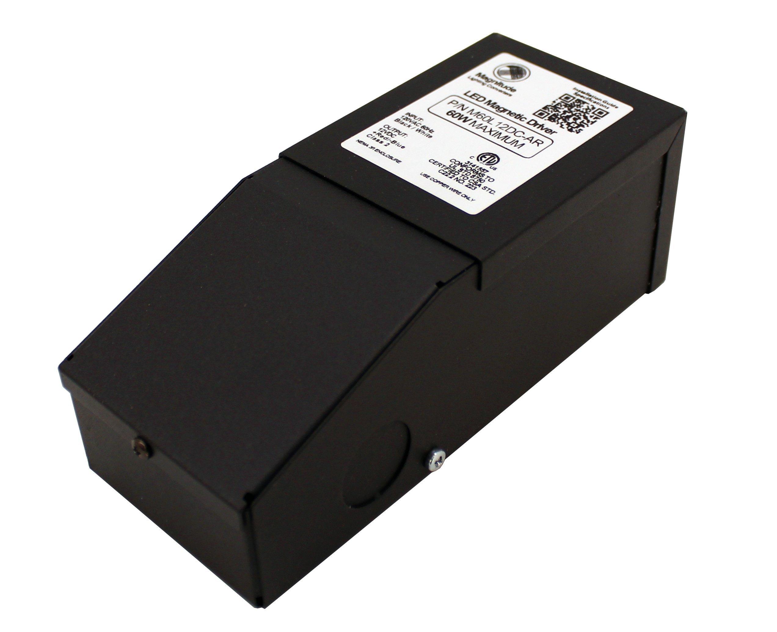 12V Magnitude Magnetic Dimmable LED Driver Transformer Hardwired Under Cabinet Lighting 60 Watt - Inspired LED by Inspired LED (Image #2)