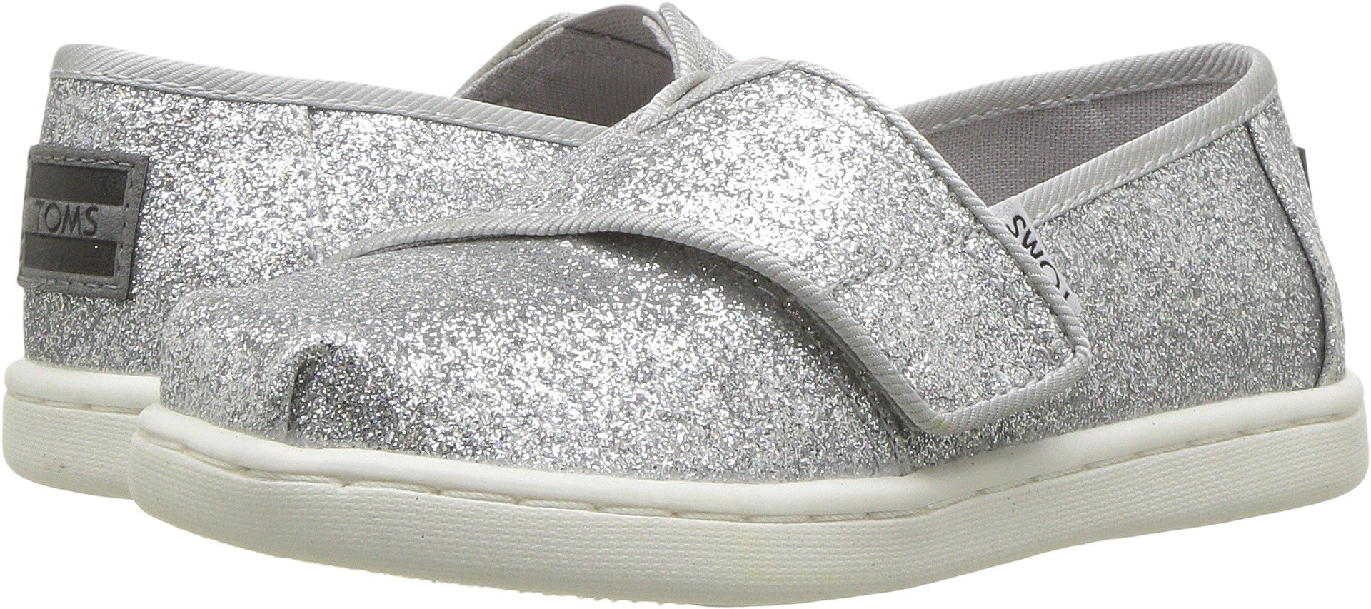 TOMS Kids Baby Girl's Alpargata (Infant/Toddler/Little Kid) Silver Iridescent Glimmer 10 M US Toddler