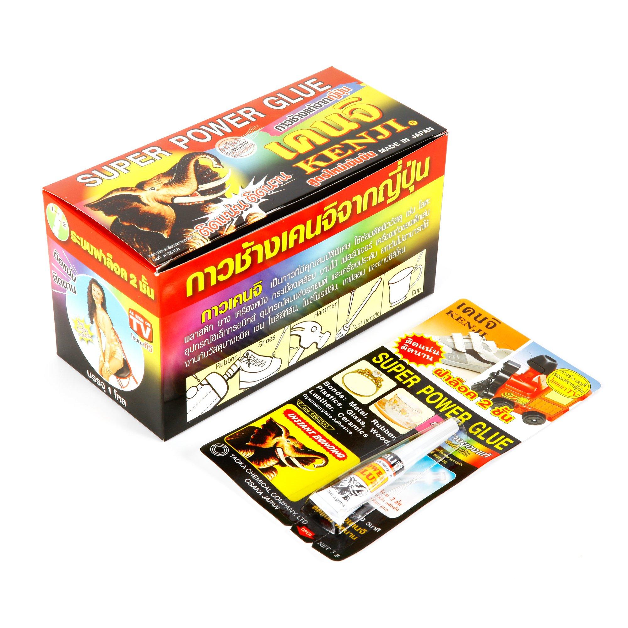 Kenji Super Power Glue 3g, Pack 12 pcs.