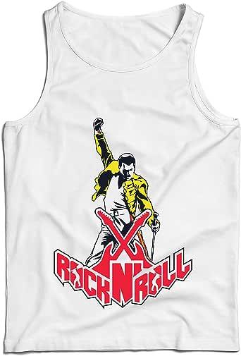 lepni.me Camisetas de Tirantes para Hombre Rock and Roll para Siempre, Conjunto de Concierto de la Banda de Rock.: Amazon.es: Ropa y accesorios