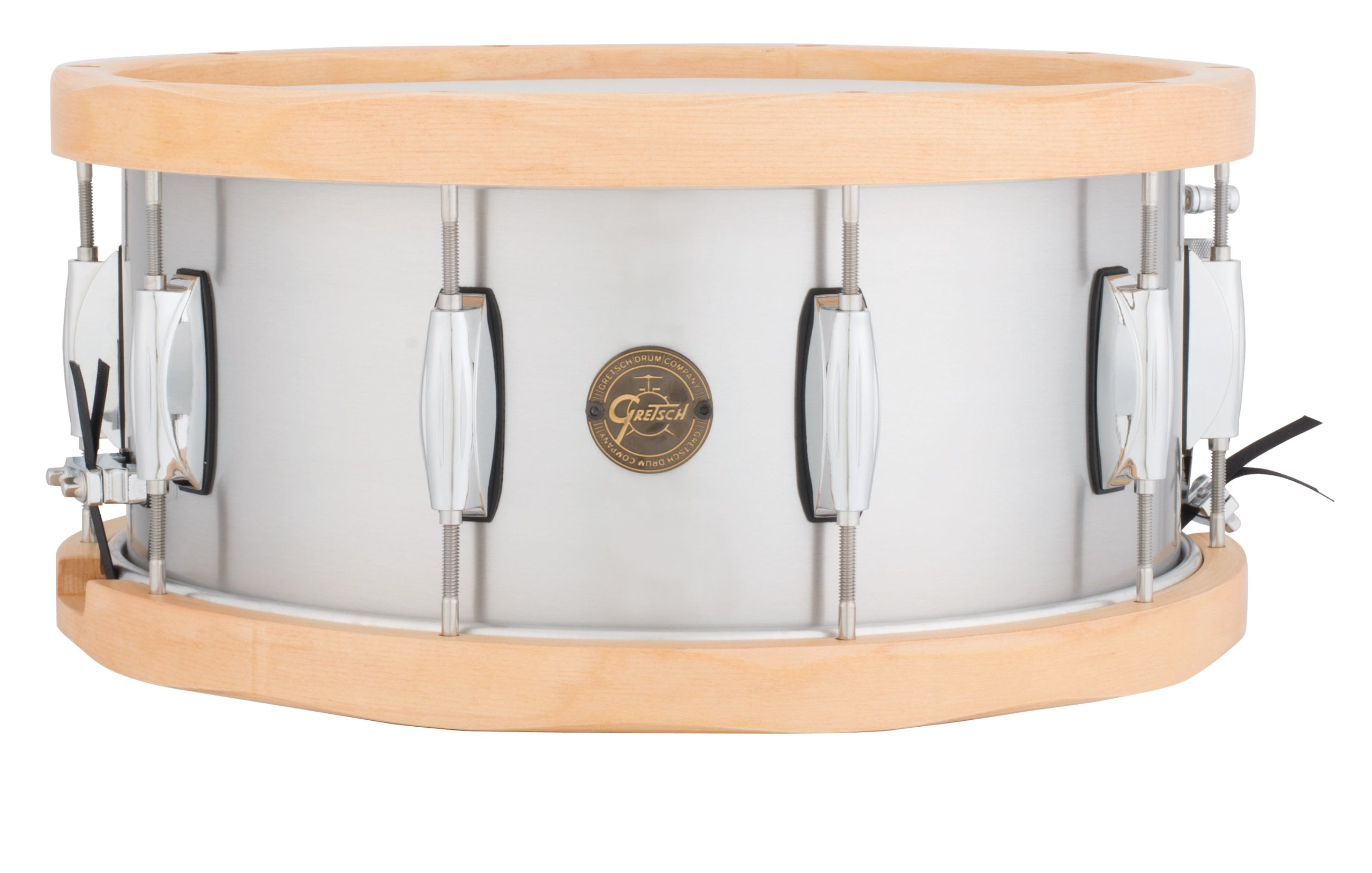 Gretsch Drums Gold Series S1-6514A-WH 14-Inch Snare Drum, Satin