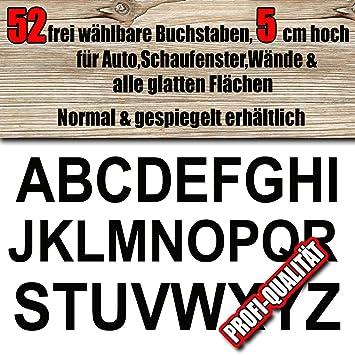 wetterfeste Buchstaben Aufkleber 5 cm höhe für innen/aussen, frei ...