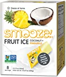 Smooze All Natural Fruit Ice, Pineapple + Coconut, 17.6 Ounce Boxes (Pack of 4)