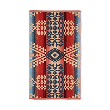 Canyonlands Jacquard Pattern Colorful Tapestry Decorative Print Cotton Hand Bath Towel, One Size