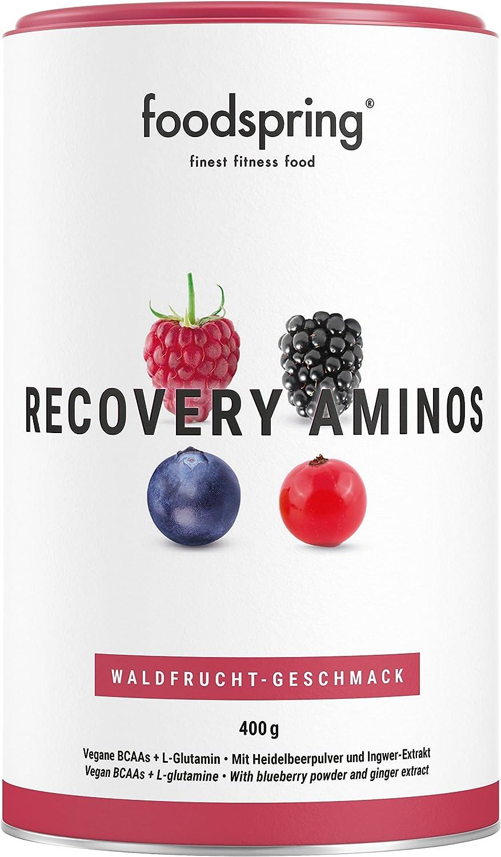 foodspring Recovery Aminos, Frutas del Bosque, La ...