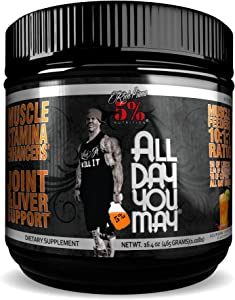 Rich Piana 5% Nutrition All Day You May BCAA & Joint Recovery Drink (Southern Sweet Tea)