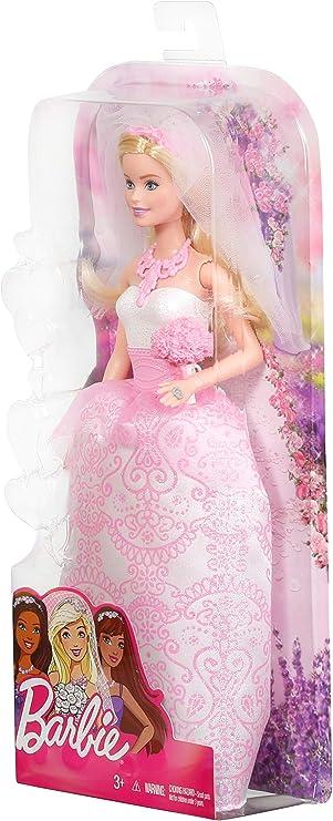 Barbie Fairytale Bride Doll Pink New
