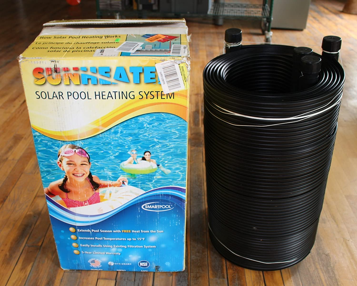 Smartpool WWS421PSunheater Solar Pool Heater for Above Ground Pools