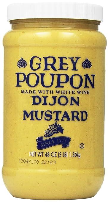 amazon com grey poupon dijon mustard 48 oz jar pack of 6