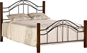 Hillsdale Furniture Hillsdale Matson Frame, Cherry/Black King Bed Set,