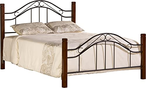 Hillsdale Furniture Matson Bed with Frame, Queen, Cherry Black