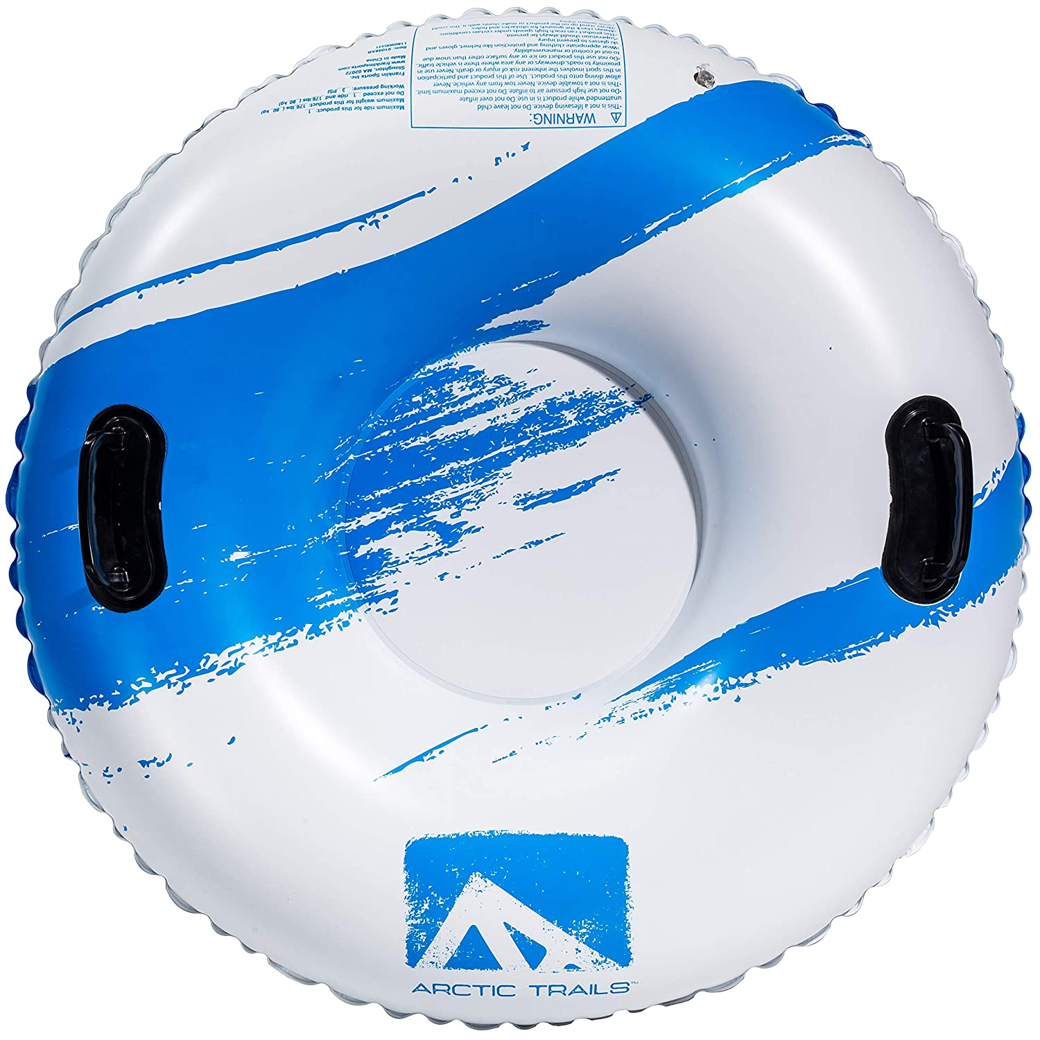 Snow Tube Freeze-Resistant Snow Rider Franklin Sports Arctic Trails Inflatable Snow Sled Snow Racer Lightweight Sled