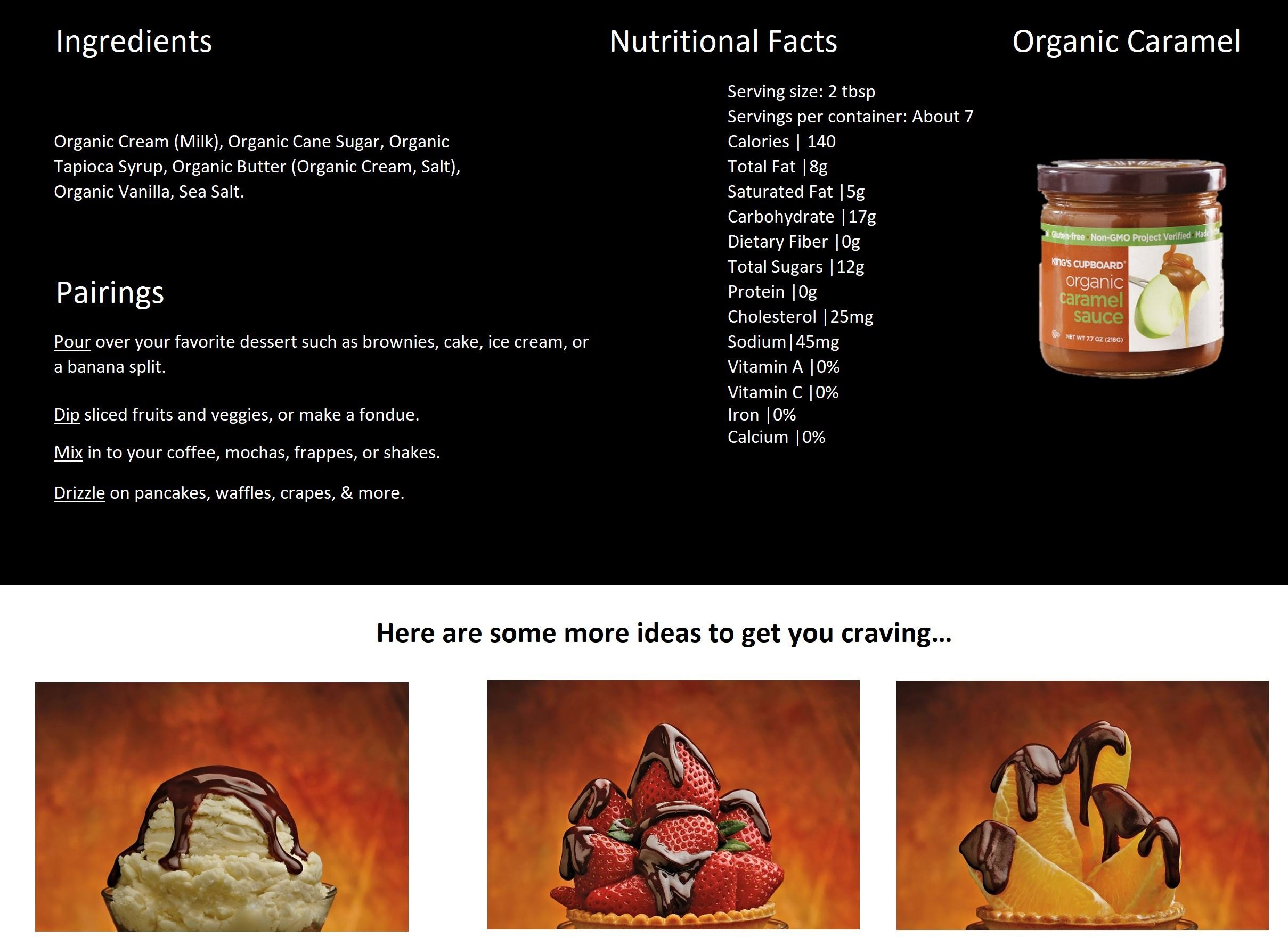 The King's Cupboard Original Organic Sampler Gift Set of Hot Fudge & Caramel Sauce by The King's Cupboard (Image #4)