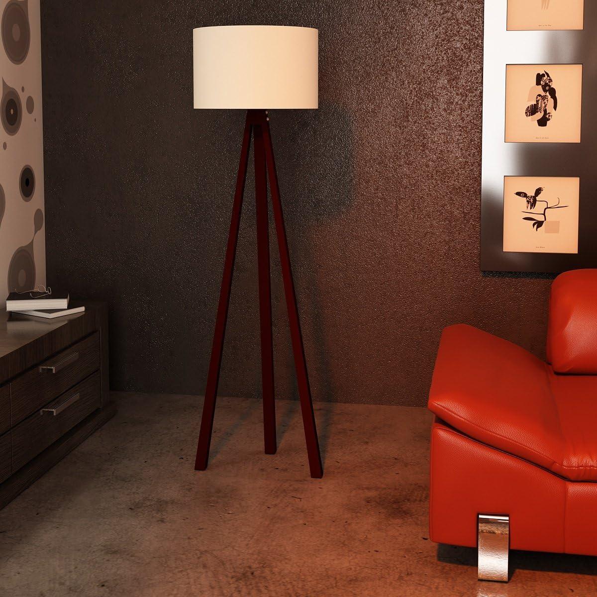 Alphamoebel Lámpara de pie, Beige - Natur, 120 x 45 x 45 cm