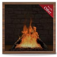 Virtual Woodish Fireplace HD