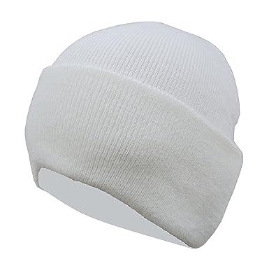 56bf83c2589 Gajraj Men s Woolen Skull Cap (White)  Amazon.in  Clothing   Accessories