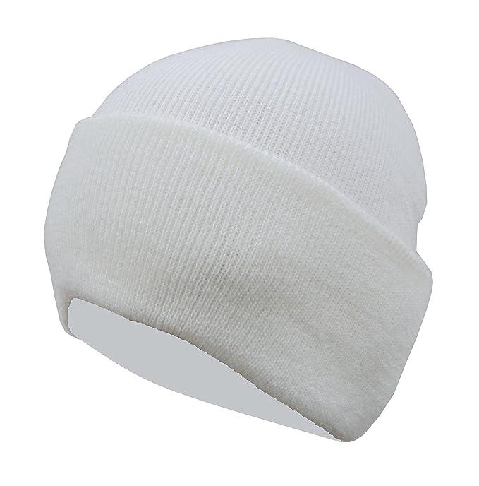 c36217cb49c Gajraj Men s Woolen Skull Cap (White)  Amazon.in  Clothing   Accessories