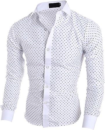 Elonglin - Camisa de vestir - Clásico - Manga Larga - para ...