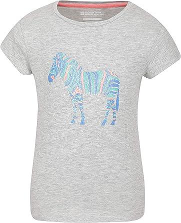 Mountain Warehouse T-Shirt Infantil con diseño de Cebra Brillante - Camiseta para niños, Parte de Arriba 100% algodón, Top Ligero, Transpirable - Deporte, Senderismo: Amazon.es: Ropa y accesorios
