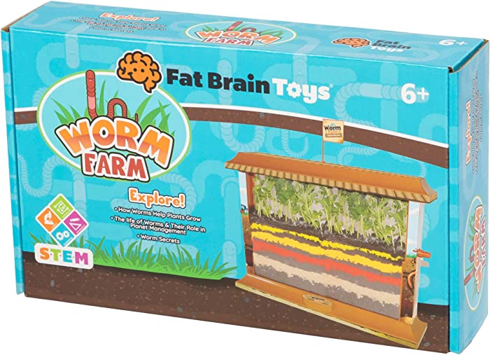 Fat Brain Toys Worm Farm Maker & DIY Kits for Ages 6 to 9