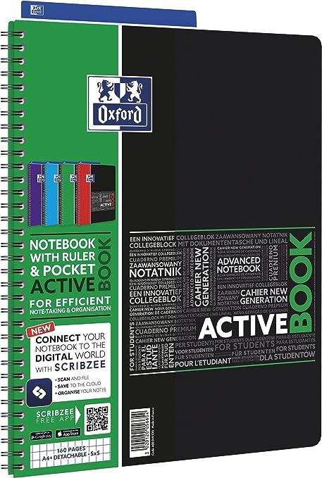 kariert Neu!!! OXFORD Collegeblock Activebook A4