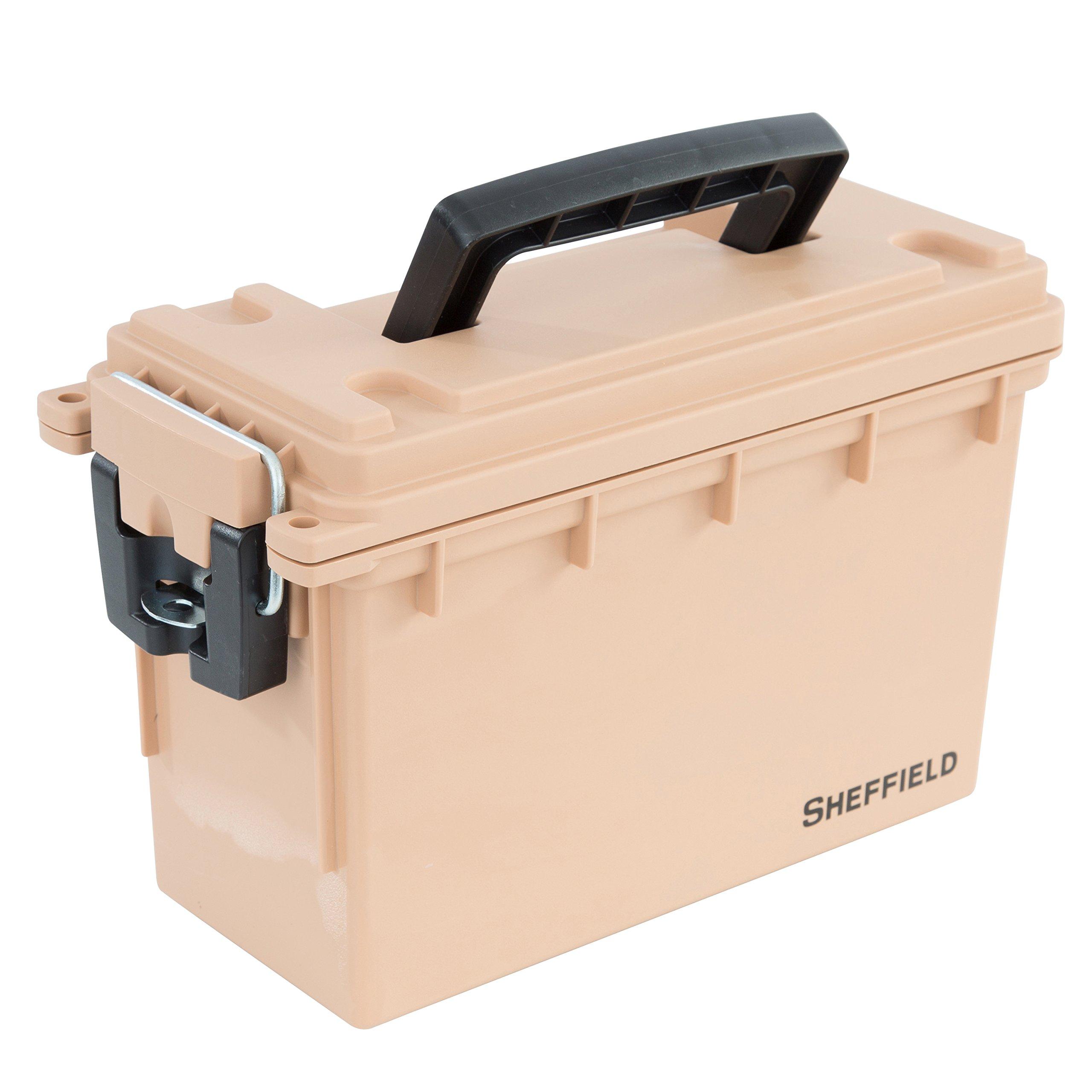 Sheffield 12627 Field Box- Tan, Made in The U.S.A.