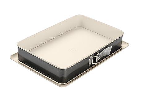 Dr. Oetker 4861, Lata de torta rectangular de Springform, acero, crema/