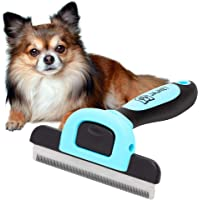 Dog Grooming Brush, Reduces up to 90% of Shedding Hair. This Dog Brush is Suitable as a Pet Deshedding Tool for Long…