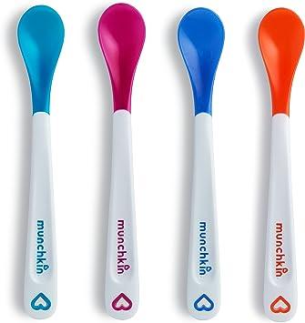 Munchkin White Hot Infant Safety Spoons, 4 Count: Amazon.es: Salud y cuidado personal