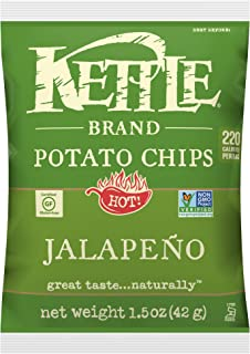 product image for Kettle Brand Potato Chips, Jalapeno, Single-Serve 1.5 Ounce Bags (Pack of 64)