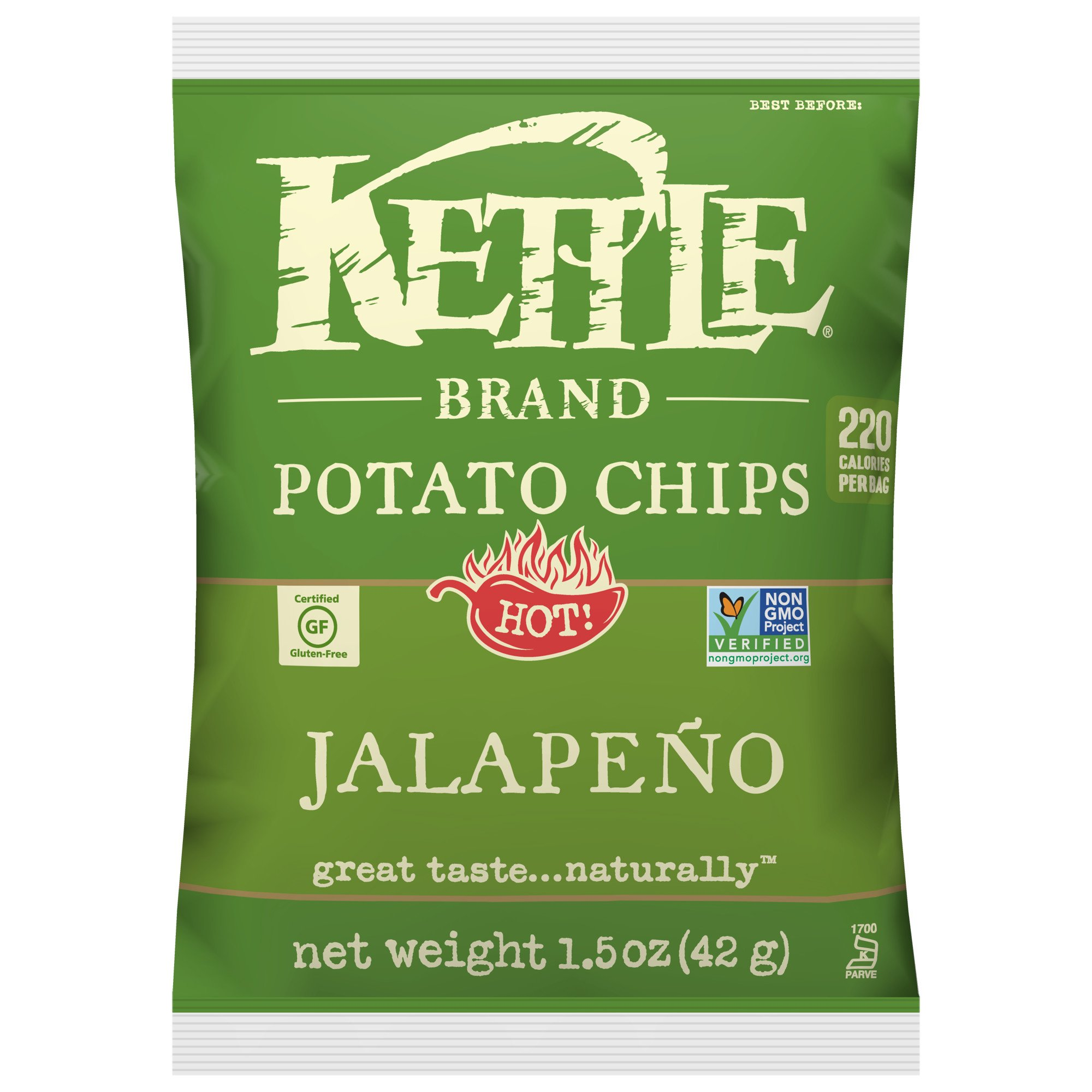 Kettle Brand Potato Chips, Jalapeno, 1.5 oz by KETTLE FOODS (Image #1)
