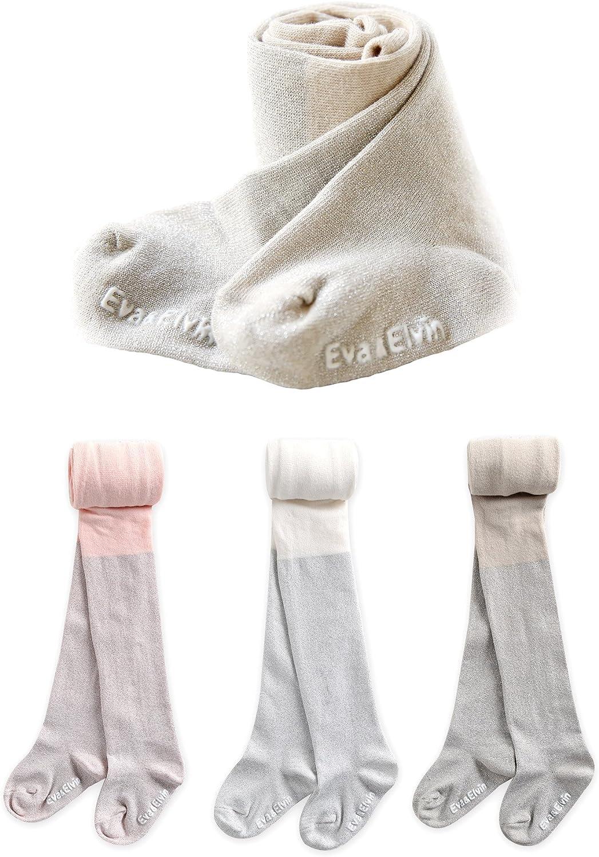 Eva/&Elvin by Vaenait Baby 1-7Y Girls 3 Pairs Leggings Pants Tights Pearl Two Tone