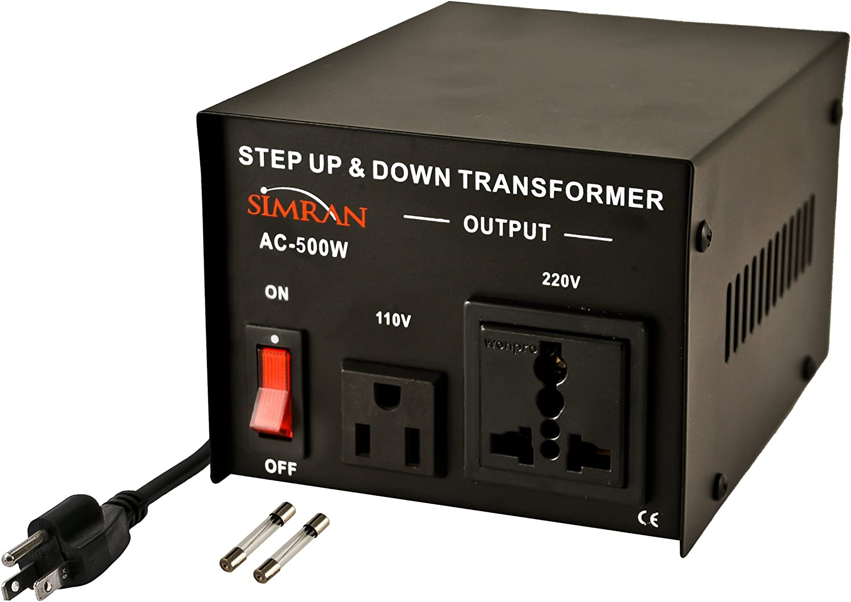 Simran AC-500W 110V 220V Power Source Voltage Converter Up-Down Transformer