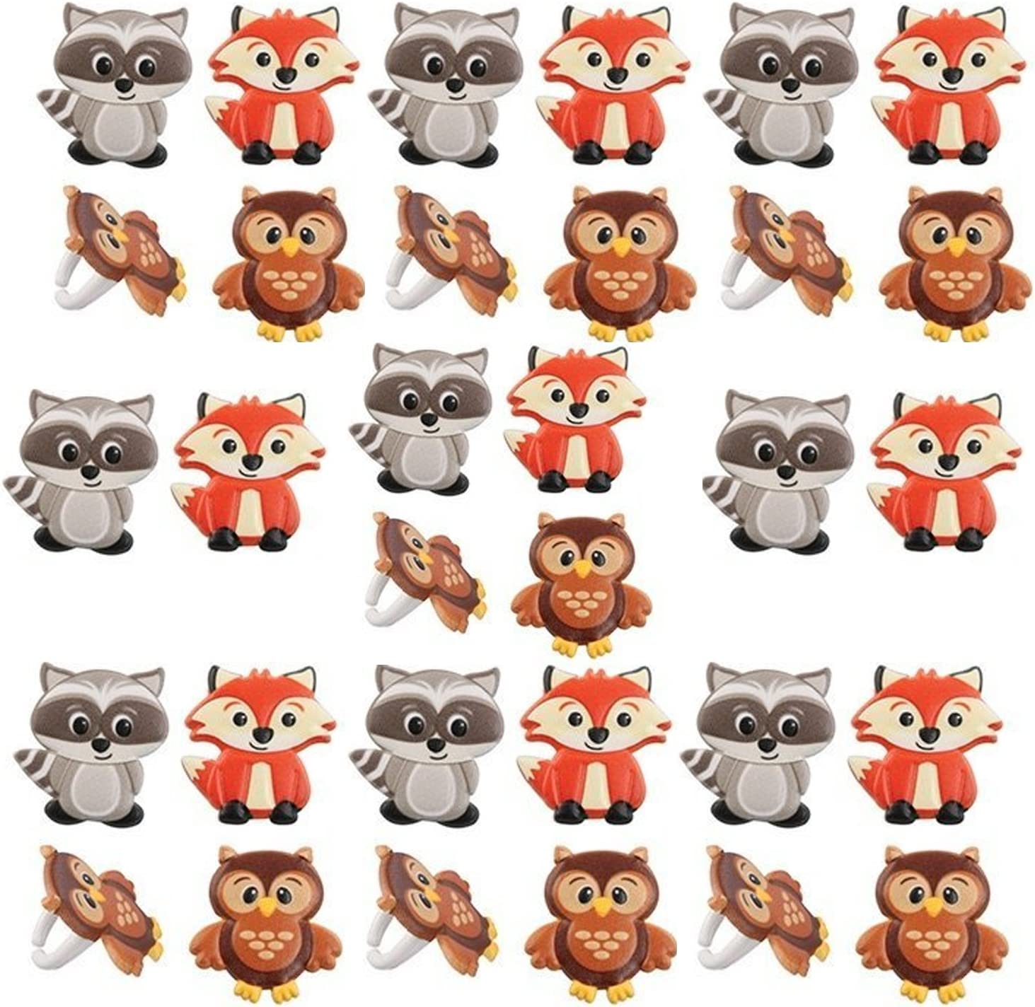 Woodland Animal Friends Cupcake Rings by Bakery Supplies (24-Pack)