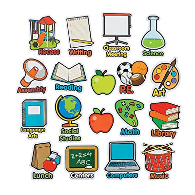 Fun Express Subject Magnet - 18 Pieces - Educational and Learning Activities for Kids: Toys & Games