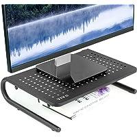 Soporte elevador ergonómico de color negro, para monitor de computadora, impresora y computadora portátil, con…