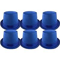 Pack 6 Sombrero Chistera Azul de Copa