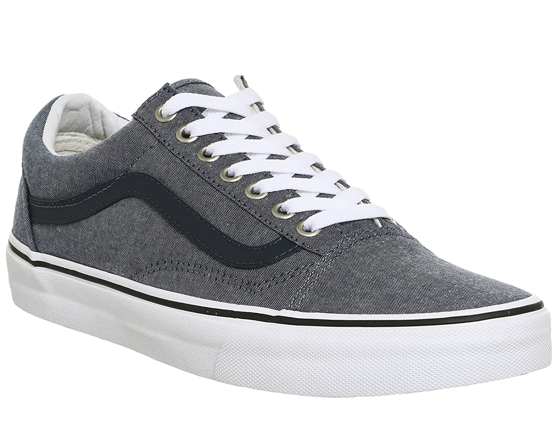 Vans Unisex Old Skool Classic Skate Shoes B01I4B3OCC 12 B(M) US Women / 10.5 D(M) US Men|C&l Chambray Blue