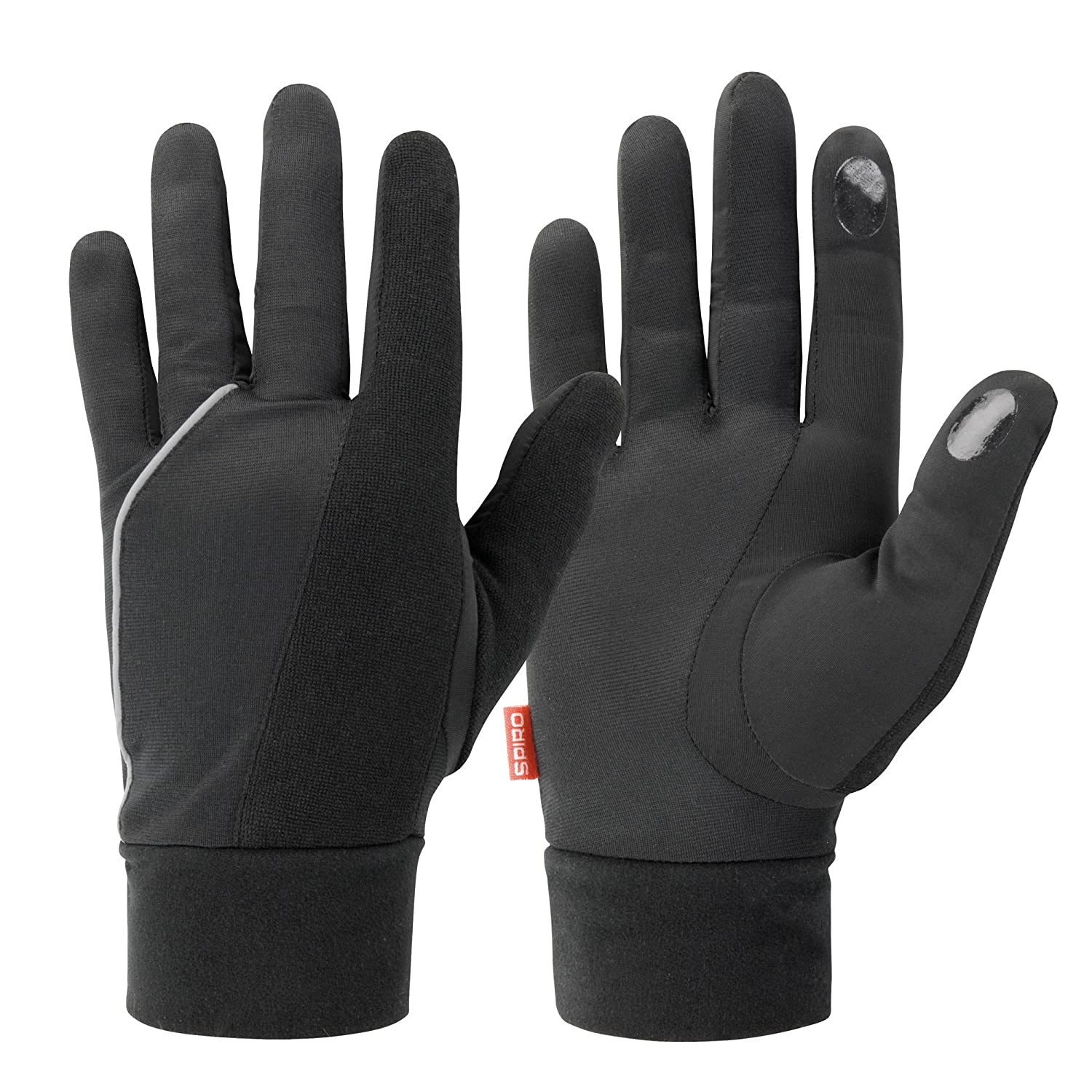 Spiro Adults Unisex Elite Running Gloves (L) (Black) UTRW4767_1