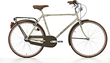 Cicli Cinzia Bicicleta Bombi Retrò para Hombres, Cuadro de Acero, Cambio Interno Nexus 3 velocidades, 26
