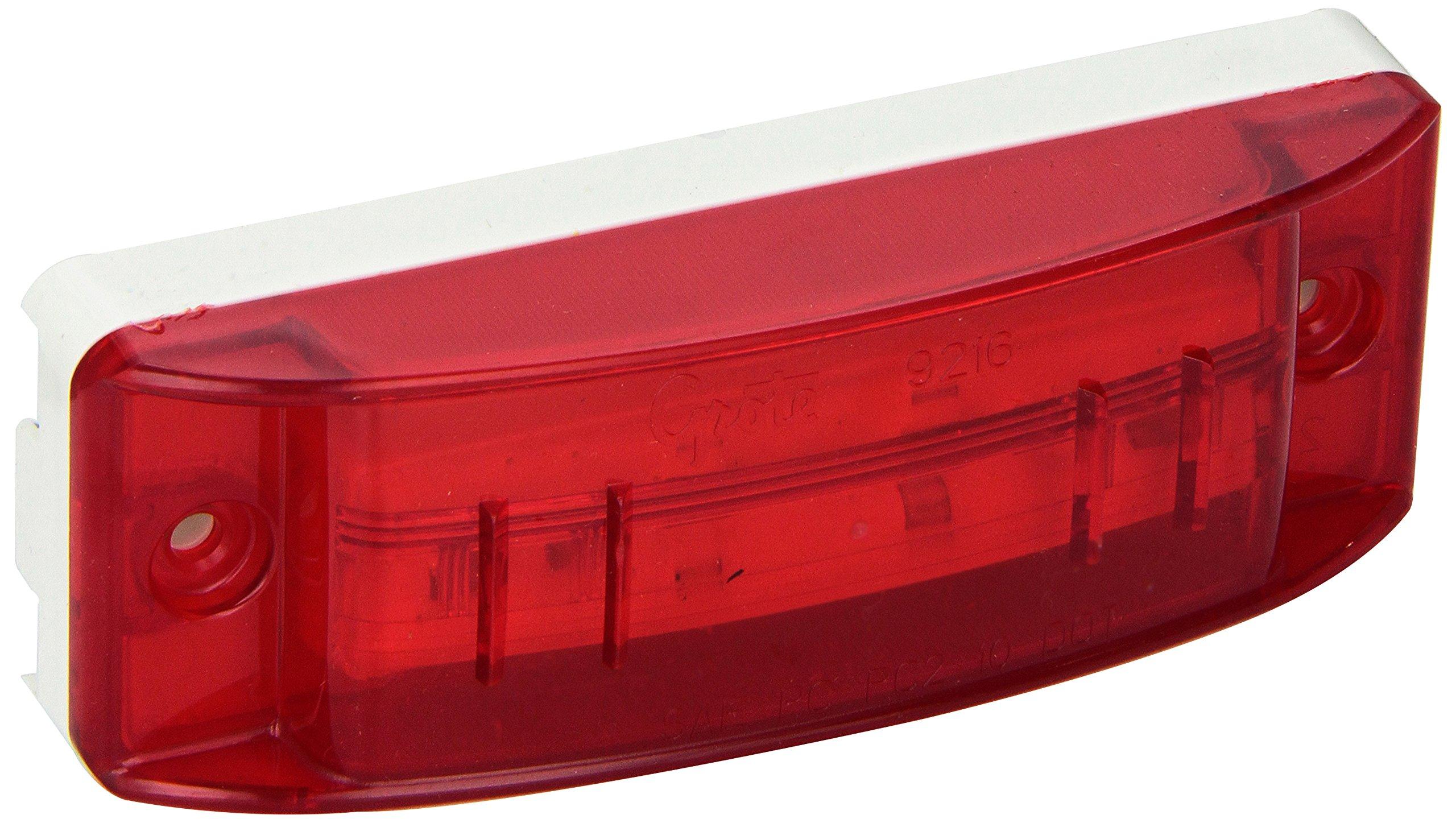 Grote 47162 SuperNova Sealed Turtleback II LED Clearance Marker Light (Optic Lens, Male Pin)